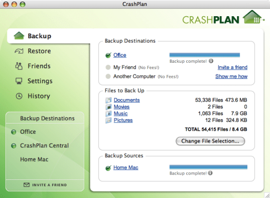 Automatic Data Backup with CrashPlan