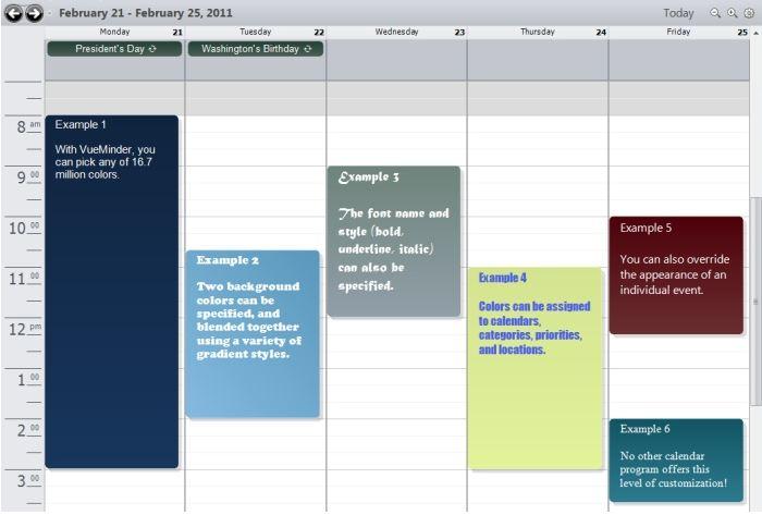 vueminder calendar best calendar software for windows appginger