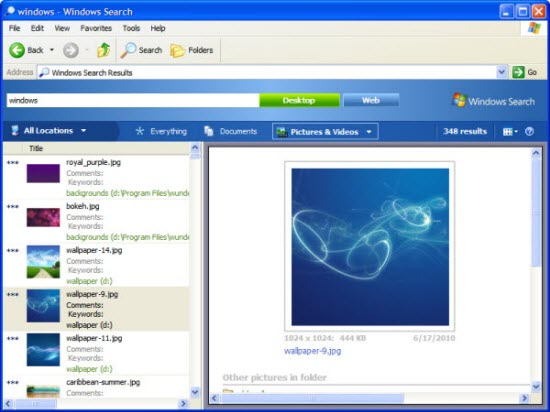 Windows Desktop Search Software