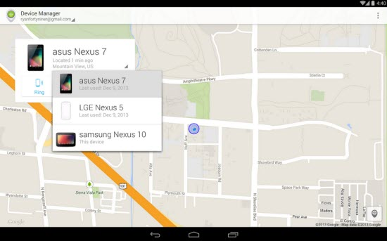 Locate your Lost Android Device with Android Device Manager App