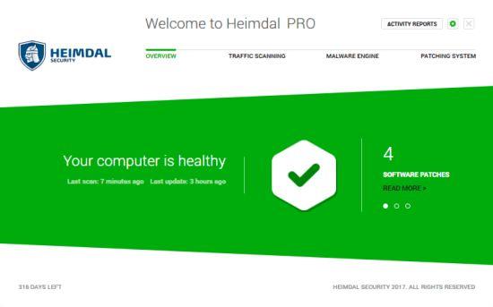 Heimdal Pro Antivirus Software