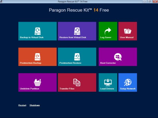Paragon Rescue Kit Best Data Recovery Software