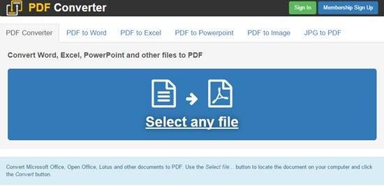 Free PDF Convert
