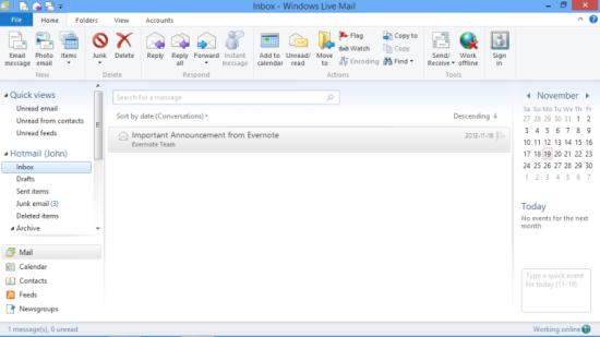 Windows Live Mail Desktop Email Clients