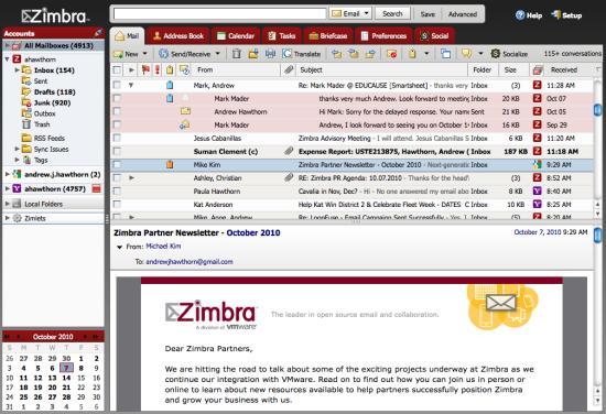 Zimbra Desktop Email Client