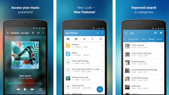 4shared - Free Music Download Apps for Android