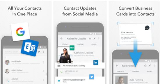 FullContact Address Book Business Card Scanner Apps