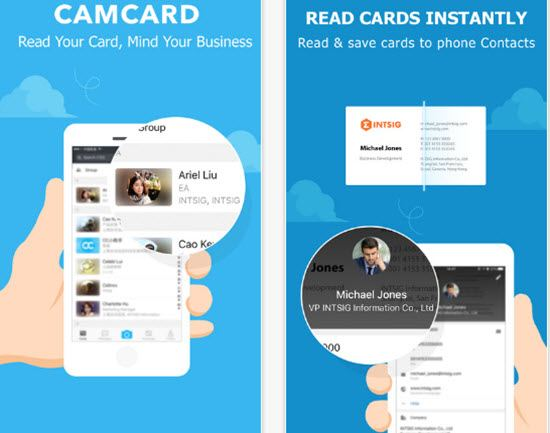 5 best business card scanner apps for android and ios appginger camcard business card scanner apps reheart Choice Image