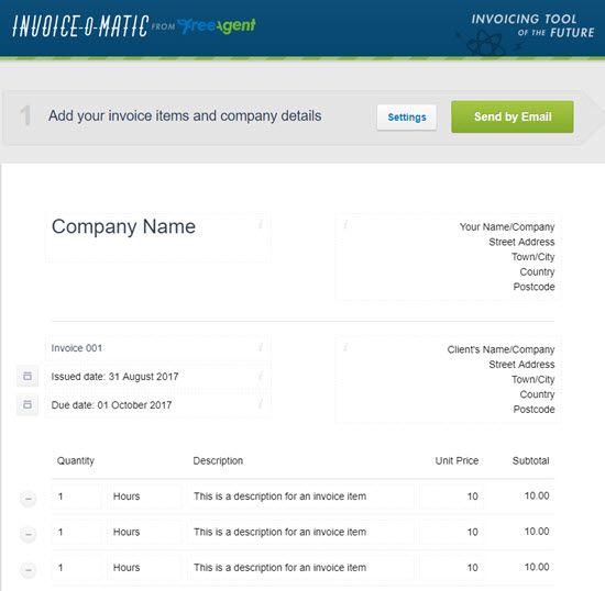 Invoice-o-matic Free Invoice Generator