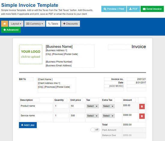 Best Free Online Invoice Generator AppGinger - Free online invoice generator