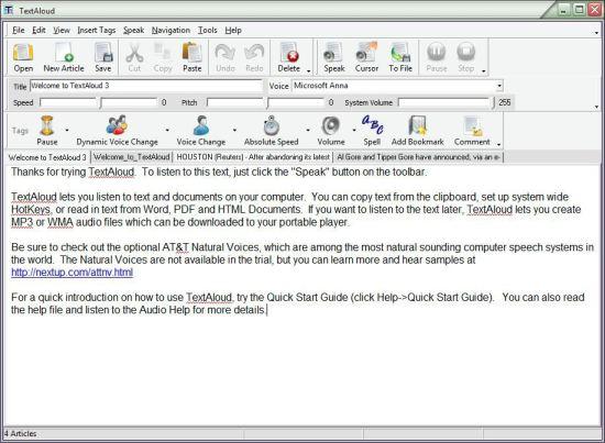 TextAloud Text to Speech Software