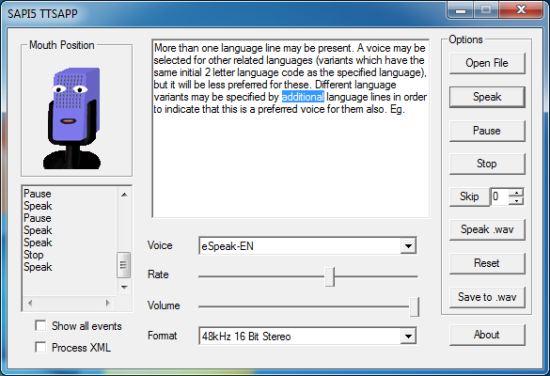 eSpeak Text to Speech Software