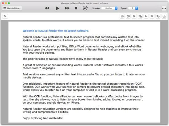 NaturalReader Text to Speech Software