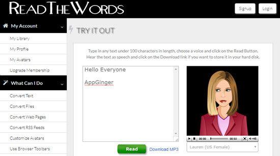 ReadTheWords Text to Speech Software