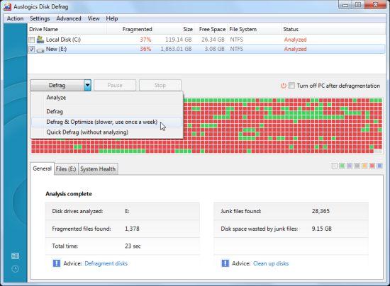 Auslogics Disk Defrag Software