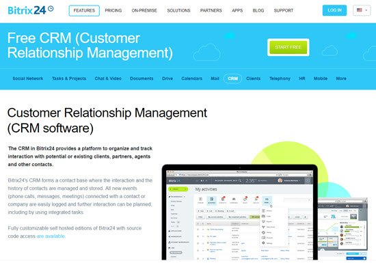 Bitrix24 Free CRM Software