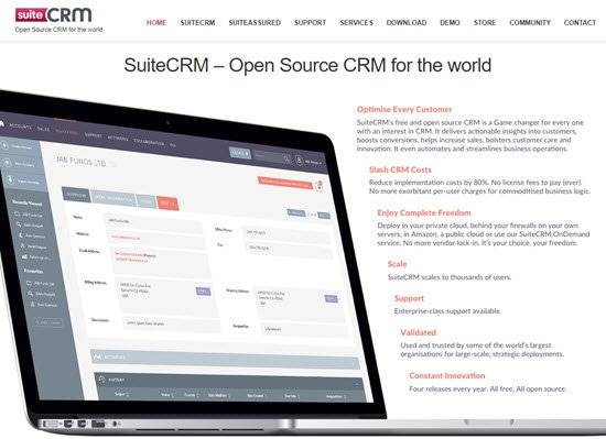 SuiteCRM Free CRM Software