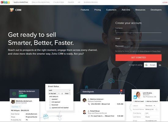 Zoho Free CRM Software
