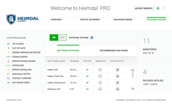 Heimdal PRO protection