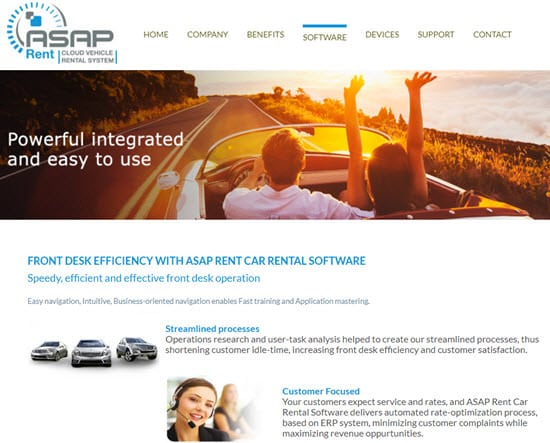 ASAP RENT Car Rental Software