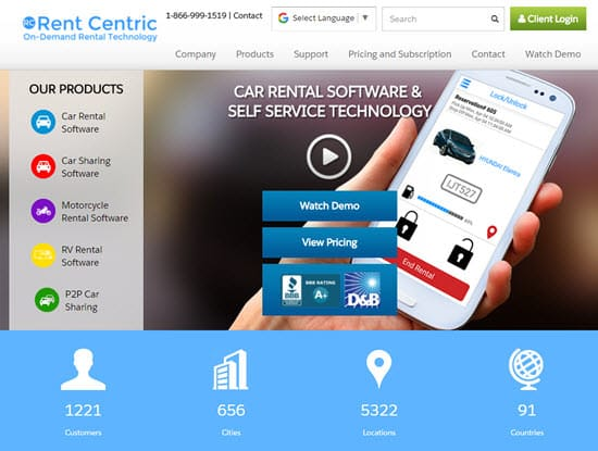 Rent Centric Car Rental Software