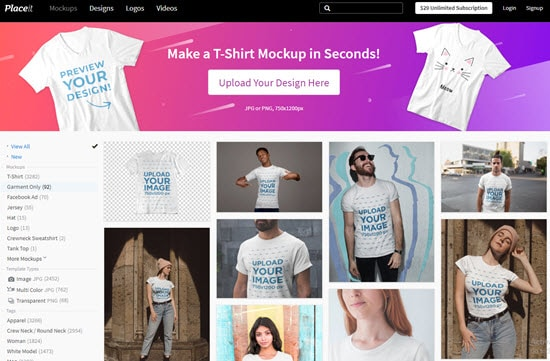 Placeit T-Shirt Design Software