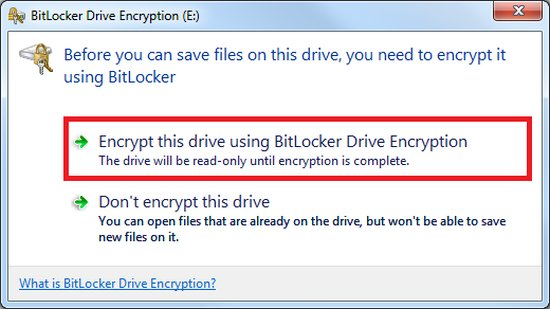 Bitlocker to go USB Encryption Software